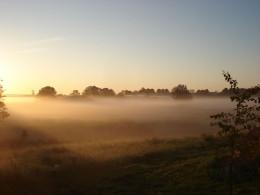 Poranna mgła - okolice Dygowo