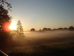 Mgła o poranku - okolice Gospodarstwa Agroturystycznego
